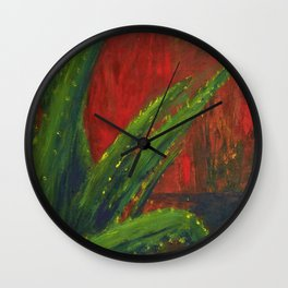 Study of an Aloe Plant Wall Clock