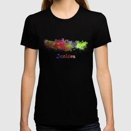 Jackson skyline in watercolor T-shirt