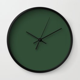 Dark Vintage Green: Just perfect Color for Wedding Wall Clock