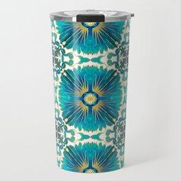 Azulejos - Portuguese Tiles Aqua Travel Mug