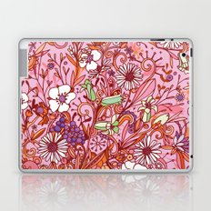 Daisy and Bellflower pattern, pink Laptop & iPad Skin