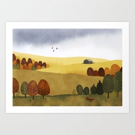 Autumn stillness Art Print