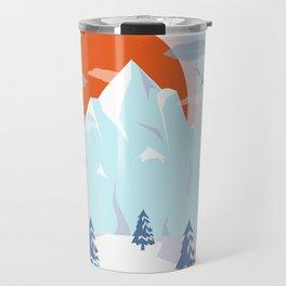 Winter breeze in Alpes Travel Mug