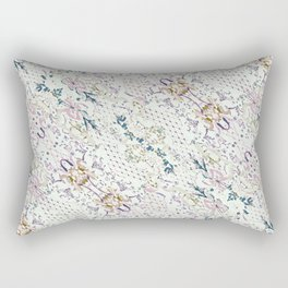 Oriental Floral Ornate Rectangular Pillow