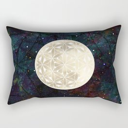 The Flower of Life Moon 2 Rectangular Pillow