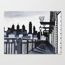 Philadelphia Skyline B&W Canvas Print