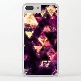 golden tri Clear iPhone Case