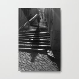 Lisbon Shadow Metal Print