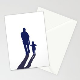 Walking together - hand in hand Stationery Cards