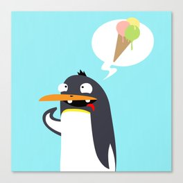 Craving Penguin Canvas Print