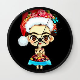 Frida Christmas Wall Clock