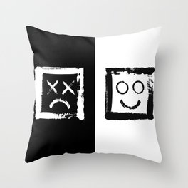 Happiness versus depression. #print Throw Pillow