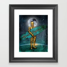 Space Surfer Framed Art Print