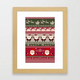 Santa Claus Ugly Sweater Framed Art Print