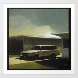 Her Old Volvo Art Print