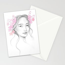 Japanese Cherry Blossom Stationery Cards