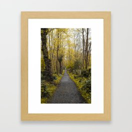 A walk in Highgate Framed Art Print