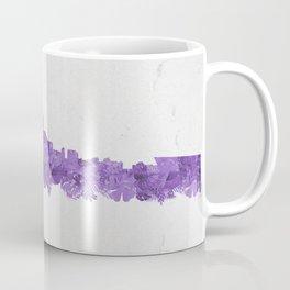 Minnepolis Minnesota Skyline Florals Purple Coffee Mug