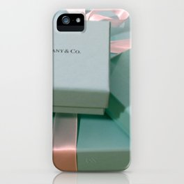 Pile of Boxes Tiffany Blue Style iPhone Case