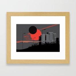 apocalypse city Framed Art Print