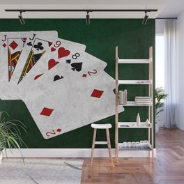 Poker Hand One Pair Jack Eight Nine Two Wall Mural