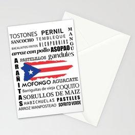 Puerto Rican foody & boricua  cousine  Stationery Cards