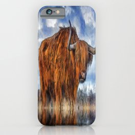 Meadow Bull iPhone Case