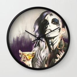 Catrina Sugar Skull Wall Clock