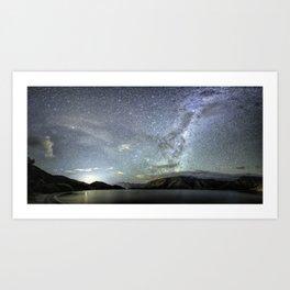 New Zealand Southern Hemisphere Skies Over Lake Wakatipu by OLena Art Art Print