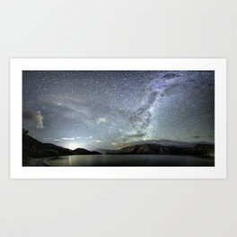 New Zealand Southern Hemisphere Skies Over Lake Wakatipu by OLena Art Art Print
