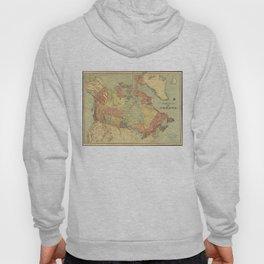 Vintage Map of Canada (1898) Hoody