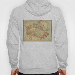 Vintage Map of Canada (1898) Hoody