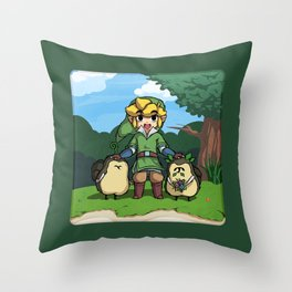 Legend of Zelda Skyward Sword: Link and Kikwis Throw Pillow