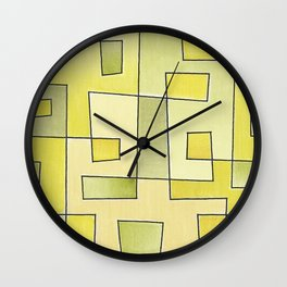 "Proto pattern n 2 ""fresh lemonade"" Wall Clock"