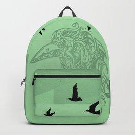 Tribal Raven: Green Backpack