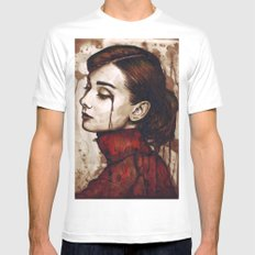 Audrey Hepburn MEDIUM Mens Fitted Tee White