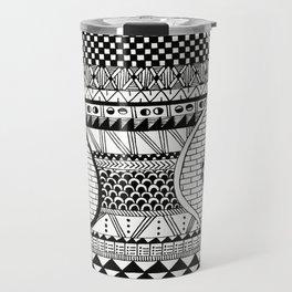 Wavy Geometric Patterns Travel Mug