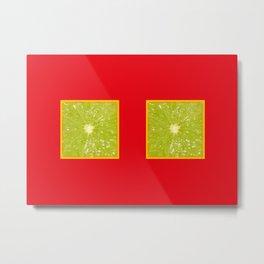 Lime Eyes – Strange Fruits Metal Print