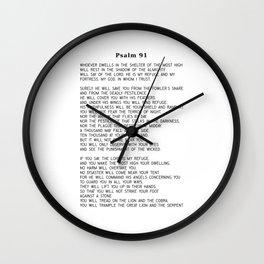 Psalm 91 #minimalism Wall Clock