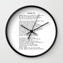 Psalm 91 #minimalism Wall Clock