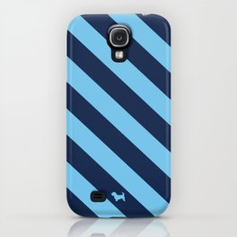 Preppy & Classy, Navy Blue / Blue Striped iPhone Case