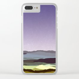 Sunset over the Valley Clear iPhone Case