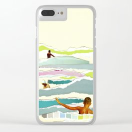 Sun and Surf Clear iPhone Case