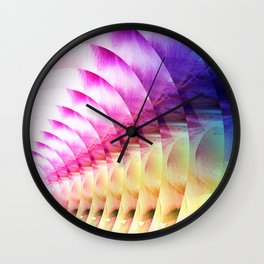 Circles Of Colour Wall Clock