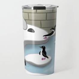 A Day With The Penguins ^_^ Travel Mug