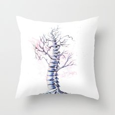 TreeSpine Throw Pillow