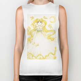 Moon Princess Yellow Biker Tank