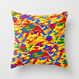 Homouflage Gay Stealth Camouflage Throw Pillow