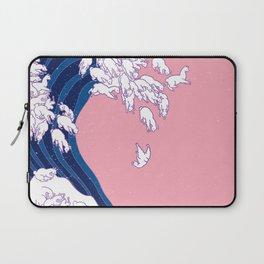 Llama Waves in Pink Laptop Sleeve
