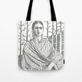 Frida Khalo and trees Tote Bag
